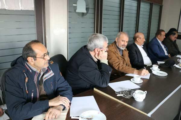 حضور استاد بزرگ رجایی در جلسه مسئولین انجمن های فدراسیون انجمن های ورزشی